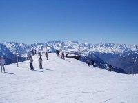 esqui y vistas espectaculares