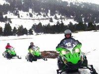 Riding the snow