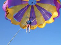 Parasailing on the Balearic sea