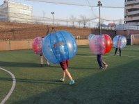 Partido de bubble soccer en Zaragoza