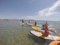 Paddle surifing route