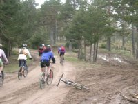 Mountain bike for team building