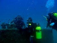 buceando en el mar de valencia
