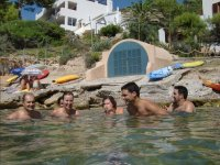 Swimming in the waters of Mallorca