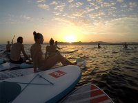 Mallorca s sunset whilst SUP
