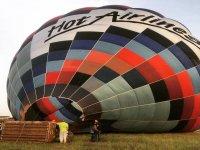 气球起飞前