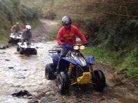 夸德(quad)穿越河流