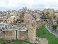 古代的Tarraco酒店露天剧场塔拉戈纳的墙壁