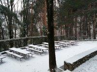 comedor exterior en invierno