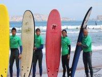Cursos de surf en familia