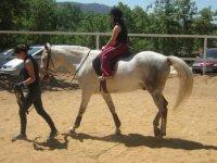 a caballo en soria