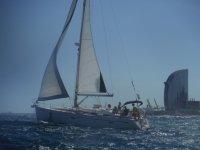 与公司共同举办的帆船比赛日