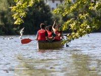 Canoa nel fiume Urumea