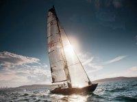 Navegando con la vela izada