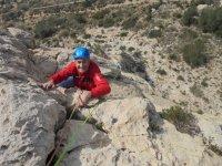 Climbing outdoors in Alicante