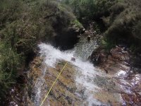 Rappelling in Cantabrian ravine