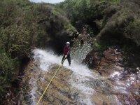 Descendiendo por el cañón del río Navedo