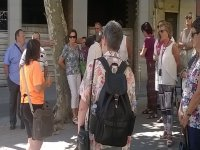 Excursionista con mochila