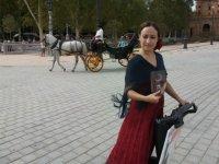 Nuestra flamenca en segway