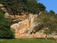 Clase de escalada en Unquera