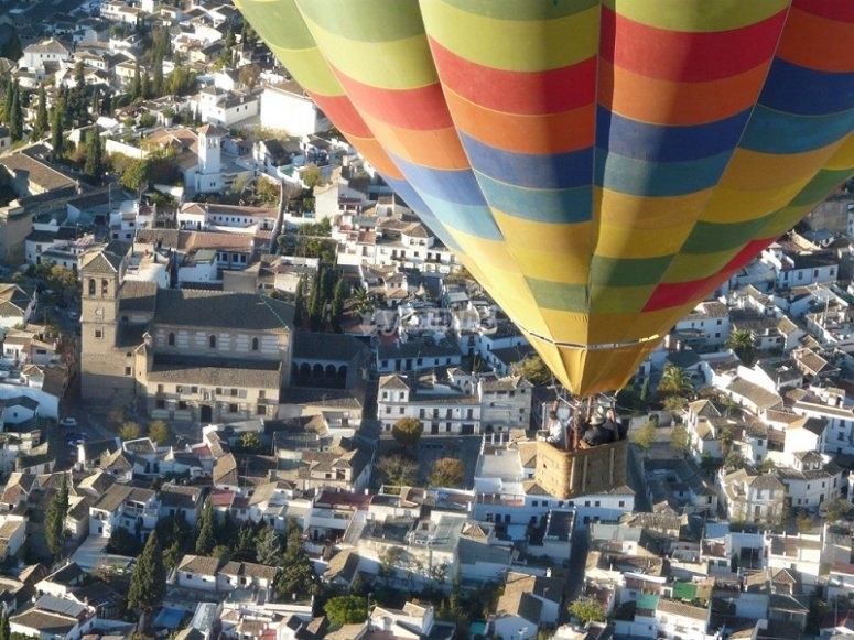 Balloon flight over Granada