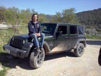Sitting on the Jeep