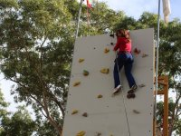 Holding the extreme of the climbing wall