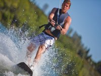 young man doing wakeboarding