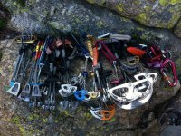 carabiners and eights ready