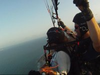 The Mediterranean from the tandem paraglide