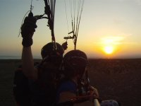 Sunset with the paraglide in Santa Pola