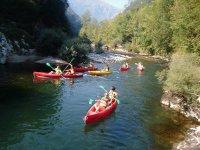 Canoa biplaza ruta por los Picos de Europa