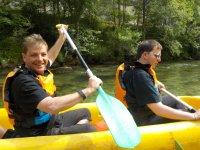 Ruta en canoa biplaza por el río Deva
