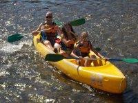 Actividad en canoa multiplaza en Asturas