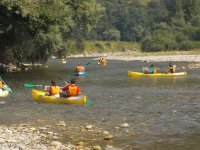 Ruta en canoa en grupo por Asturias