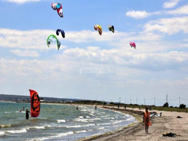 Aprende kitesurf