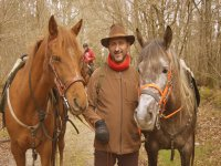 With the horses in Camino Norte
