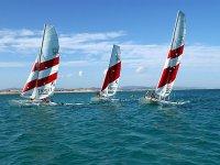 Catamaranes en la cossta de Formentera