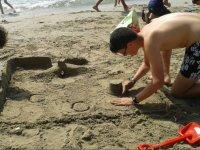 En la arena de la playa