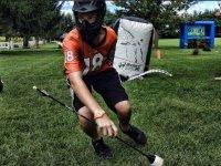 Jugando tras recuperar la flecha