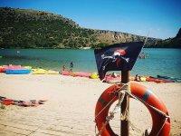 Día de canoas en el embalse de Las Vencías