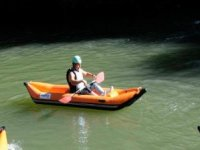 paseando en canoa