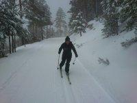 Esquiando en abril