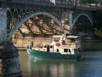 Crossing the Triana bridge