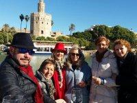 Group sailing throughout the Guadalquivir