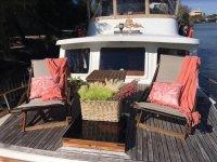 Hammocks in the boat in Seville