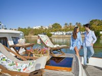 Couple on the boat in the Guadalquivir