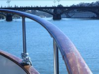 Puente sobre el Guadalquivir desde el barco