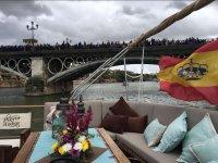 Sofa in the boat in Seville