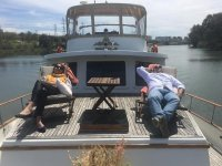 Resting on the boat in the Guadalquivir